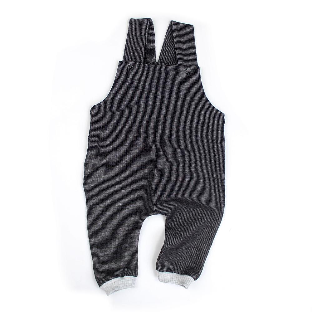 """BIO Latzhose """"Jeans black"""""""